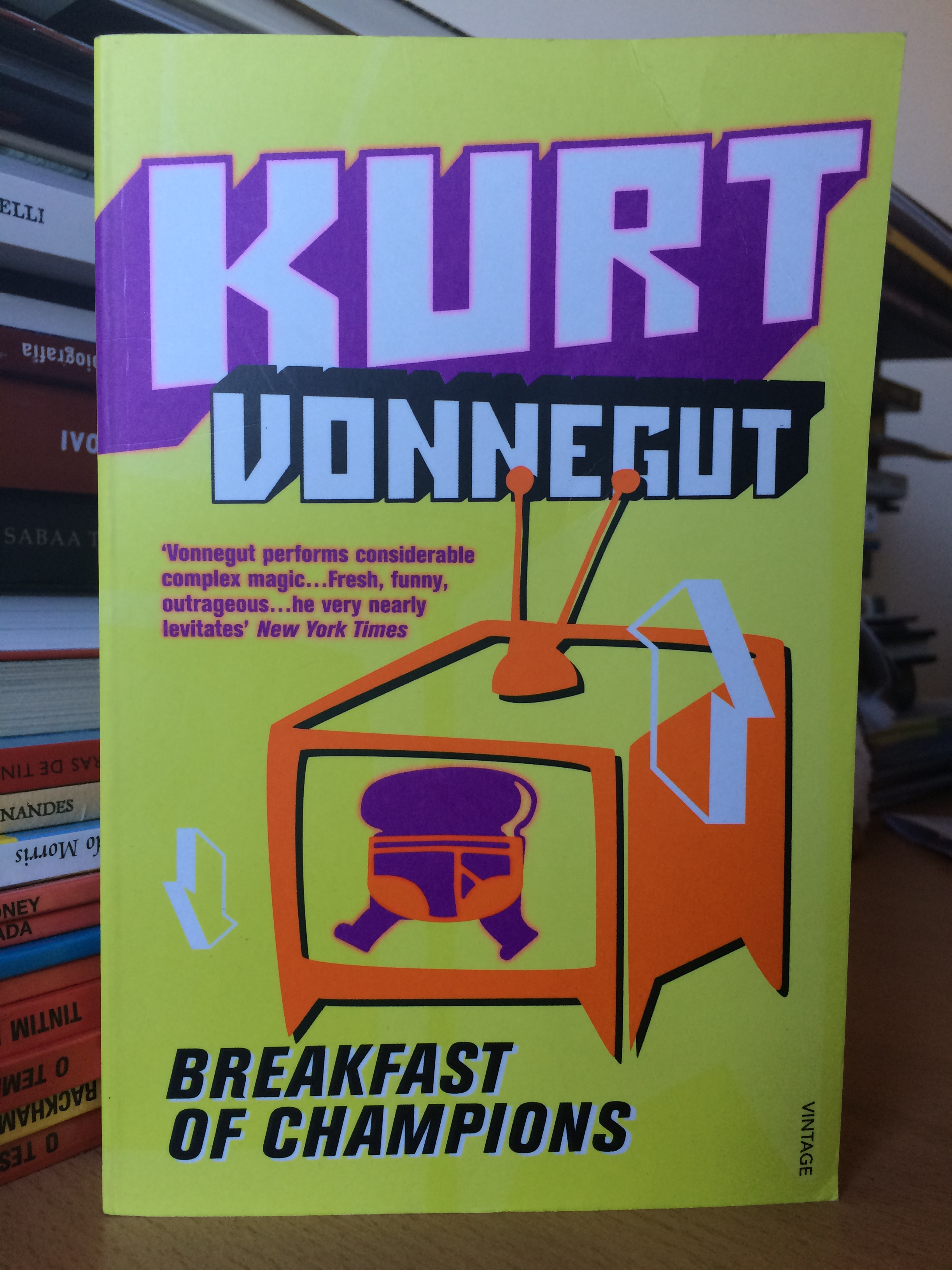 an analysis of vonneguts breakfast of champions Kurt vonnegut jr (/ the ill feeling toward that country during and after world war i caused the vonneguts to abandon that breakfast of champions was called.
