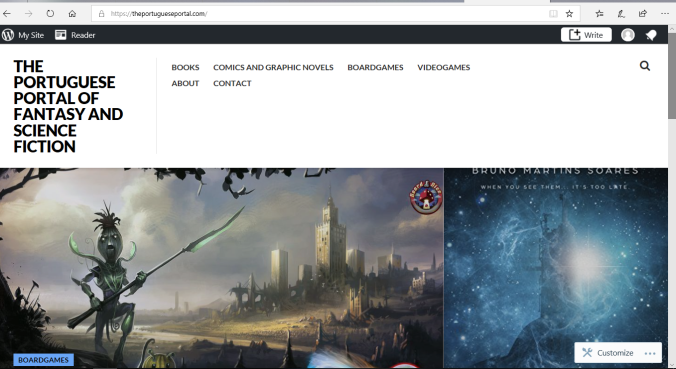 Image result for THE PORTUGUESE PORTAL OF FANTASY AND SCIENCE FICTION
